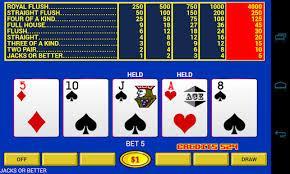 Raking it in at  Video Poker Game